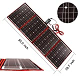 Dokio 200 Watts 12 Volts Monocrystalline foldable Solar Panel with Inverter Charge Controller (Color: Black, Tamaño: 200W)
