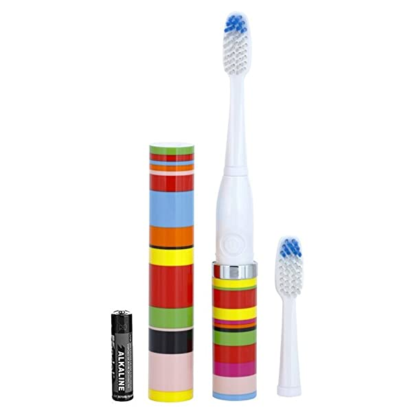 VioLife Slim Sonic Toothbrush - Candy Stripe (Color: Candy Stripe)