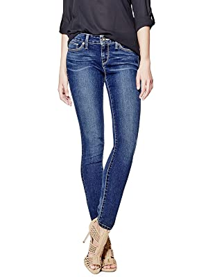 GUESS Women's Sienna Curvy Skinny Jeans in New Dark Wash