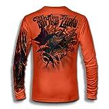 Jason Mathias Strike Zone Sailfish LS High Performance Shirt Neon Orange (Color: Neon Orange, Tamaño: 4X-Large)