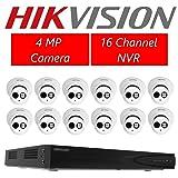 Hikvision DS-7616NI-E2/16P 16CH POE NVR & 6pcs DS-2CD2342FWD-I 2.8mm Turret Camera + 6pcs DS-2CD2342FWD-I 4.0mm Turret Camera Kit