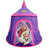 WooHoo Toys Gorgeous Princess Castle Play Tent for Girls – Children Playhouse for Indoor & Outdoor, Thick Durable Fabric with Elegant Motif Print, Great for Kids to Pretend Play (Purple & Pink) – by