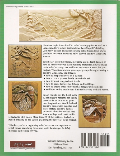 Landscapes in relief carving techniques and patterns