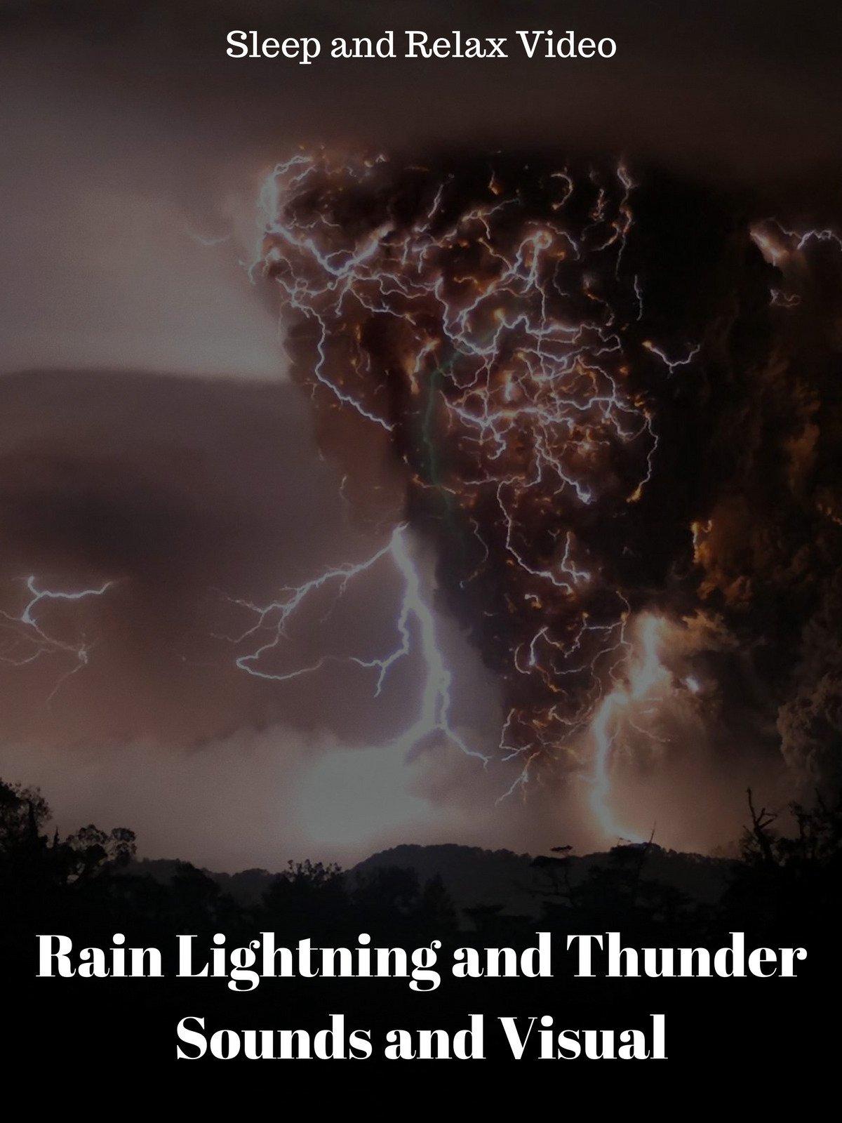 Rain Thunder Lightning Sounds and Visual