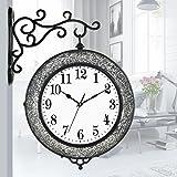 DNSJB wall clock Decorative Wall Clock, Modern Creative Silver Black Black Personality Broken Glass Mosaic Decorative Wall Clock Clock