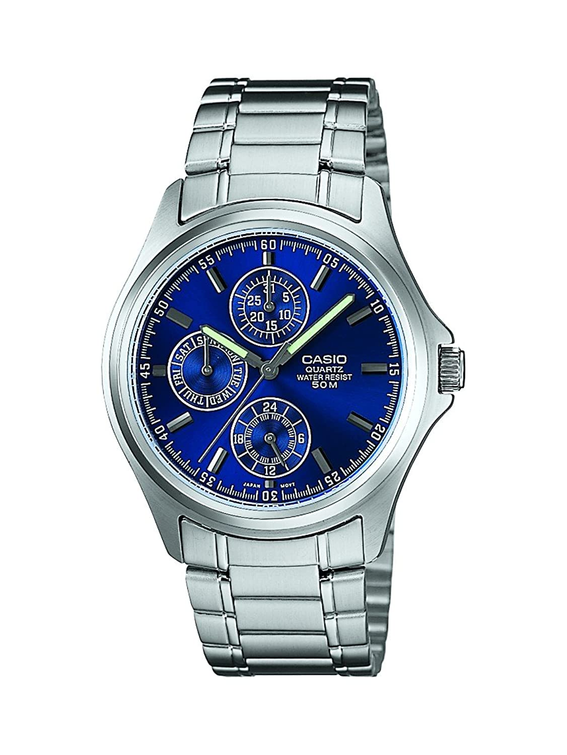 Upto 20% Off On Casio Watches By Amazon | Casio Enticer Blue Dial Men's Watch - MTP-1246D-2AVDF (A387) @ Rs.2,965