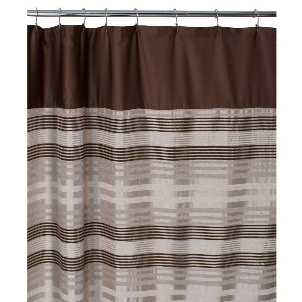 Maytex Blake Chenille Fabric Shower Curtain Blake New