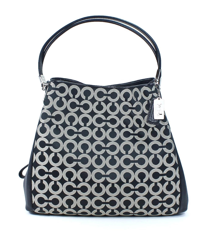 Coach New Op Art Signature Shoulder Bag Silver 110