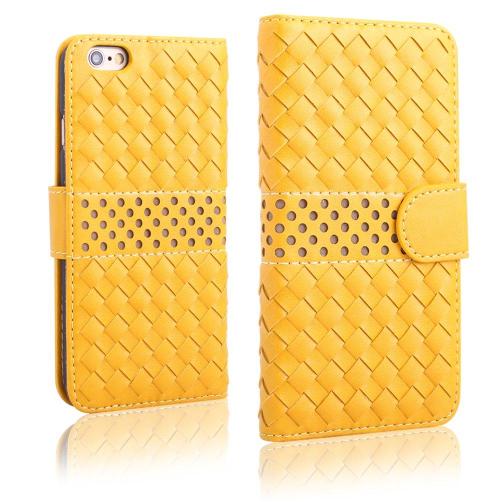 Pdncase Funda de Piel para iphone 6 Wallet Case Cover - Amarillo  Electrónica Comentarios de clientes y más información