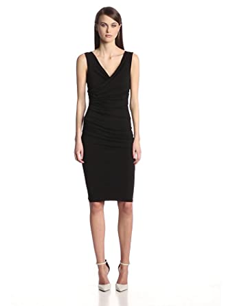Bailey 44 Women's Marilyn Sleevless Ruched Dress, Black, Small