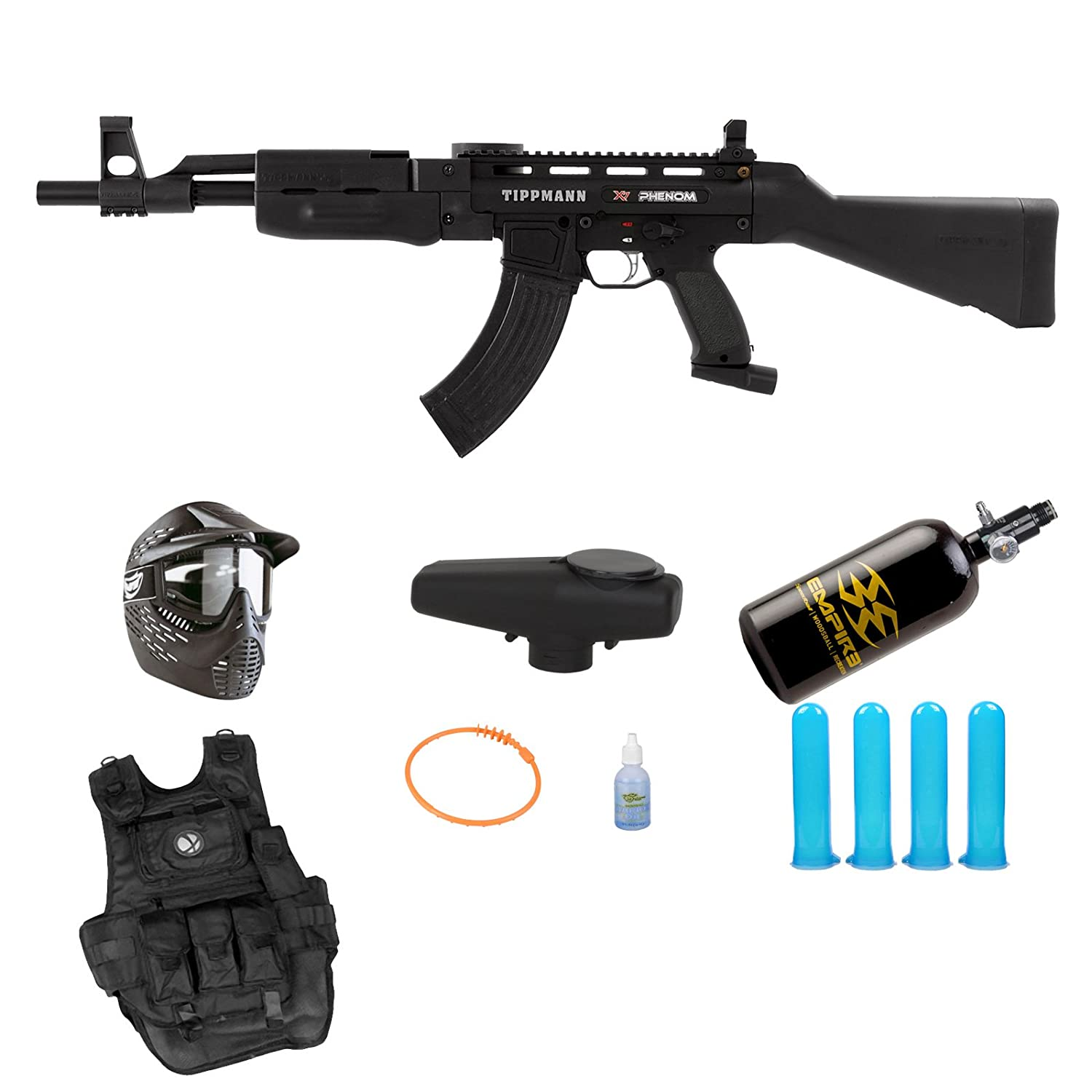 Tippmann X7 X-7 Phenom AK47 Mechanical Paintball Gun HPA N2 Prime Pack jessica phenom цветное покрытие vivid colour exquisite 36 15 мл