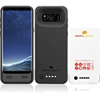 ZeroLemon 5500mAh Extended Battery Case Rechargeable Charging Case with Soft TPU Full Edge Protection Case for Samsung Galaxy S8