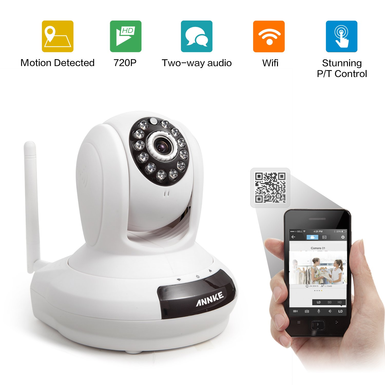 Wireless 720P HD Wi-Fi IP Camera