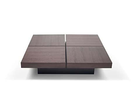 TemaHome Wood Honeycomb Panel Kyoto 4 Opening Tops with Chocolate Oak Veneer Stained Brown, 111 x 111 x 25 cm, Brown