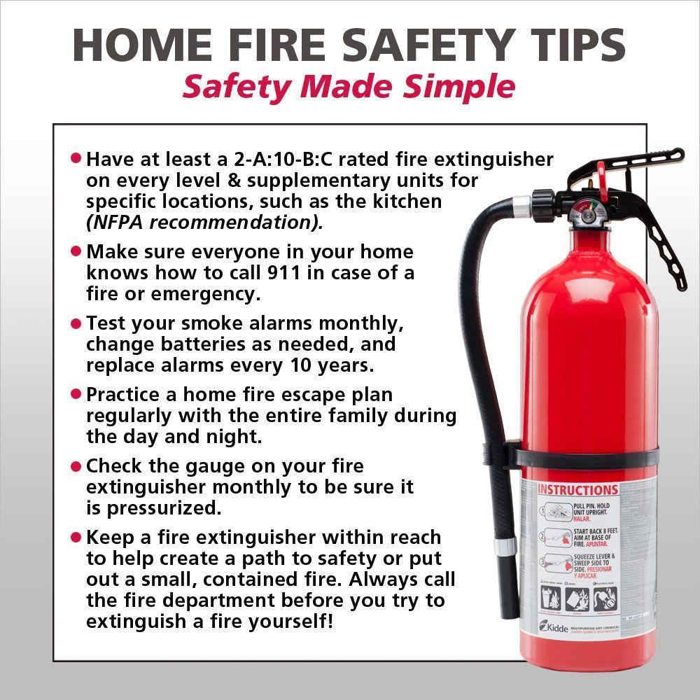 Kidde 466141 kitchen garage fire extinguisher 10 bc - The basics of fireplace safety ...