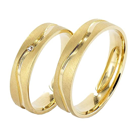 JC Wedding Rings 9ct Collection 585 Yellow Gold Earrings J903