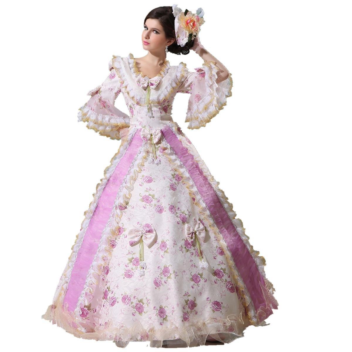 Карнавальный костюм mingsha Women's Marie Antoinette 17-18th Century Rococo Baroque Gown