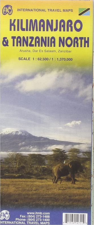1. Kilimanjaro & Tanzania North Travel Map 1: 62,500/1,370,000