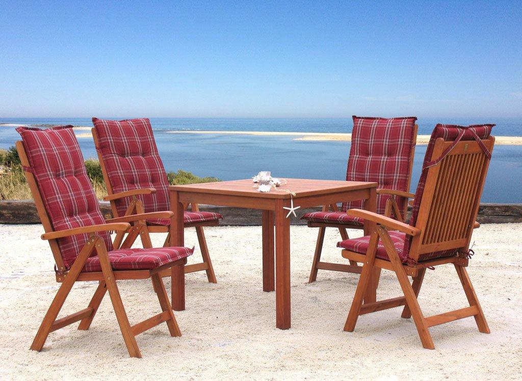 Garten Möbelgruppe Santos 9tlg Rubinrot jetzt bestellen