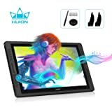 Huion KAMVAS PRO 22 Drawing Monitor Pen Display Battery-Free Stylus 8192 Pen Pressure with Two Artist Gloves and 10 Pen Nibs - 21.5 Inch (Color: GT-221 V2)