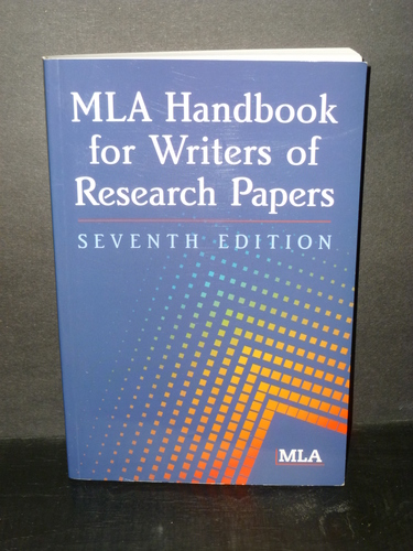 mla handbook for writers of research papers seventh edition