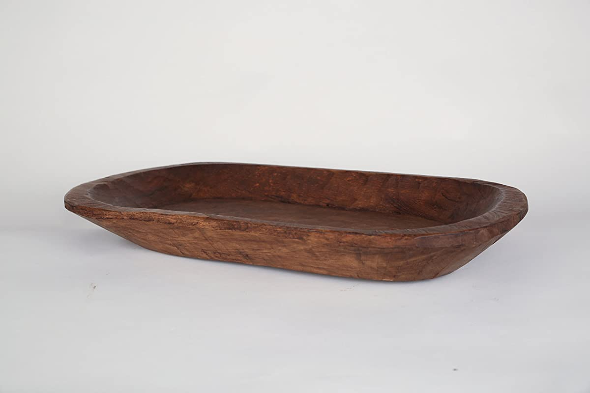 Rustic Wooden Dough Bowl