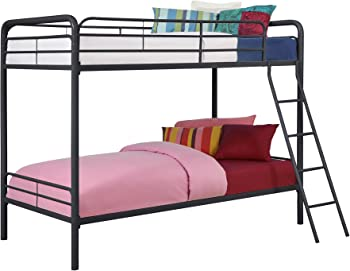 Simple DHP Twin Over Metal Bunk Bed