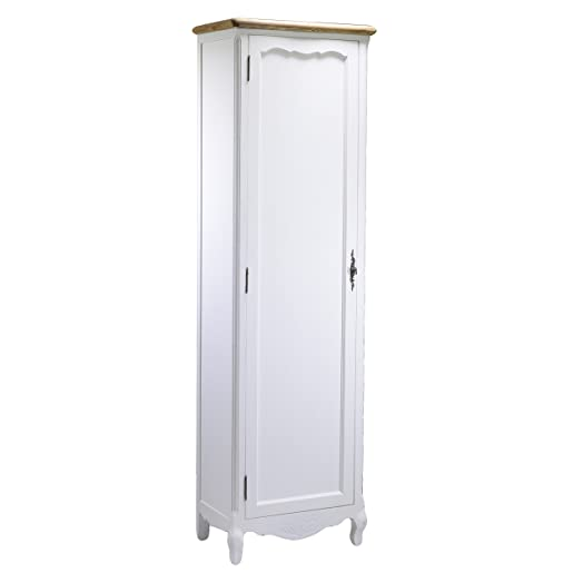 Vacchetti Giuseppe 8032360000 Mobile Country, 1 Anta, Legno, Bianco, 54.5 x 34.5 x 180 cm