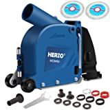 HERZO Cutting Dust Shroud Cover for Angle Grinder 5-inch Double Cutting Dics Design (Tamaño: 5-Inch)