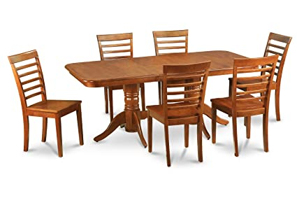 East West Furniture NAML5-SBR-W 5-Piece Dining Table Set