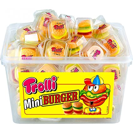 Fun Old Time Candy Products - Gummi Burgers| Homemade Recipes http://homemaderecipes.com/course/appetizers-snacks/old-time-candy