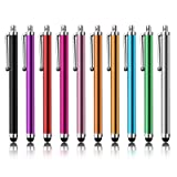 Stylus Pen LIBERRWAY 10 Pack of Pink Purple Black Green Silver Stylus Universal Touch Screen Capacitive Stylus for Kindle Touch ipad iPhone 6/6s 6Plus 6s Plus Samsung S5 S6 S7 Edge S8 Plus Note (Color: 10 pack, Tamaño: 4.45 inch long)