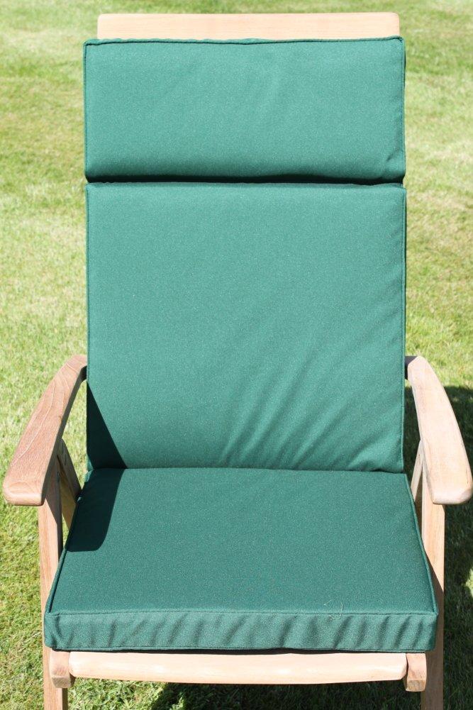 Gartenmöbel-Auflage – Auflage für großen verstellbaren Klappstuhl in Grün jetzt kaufen