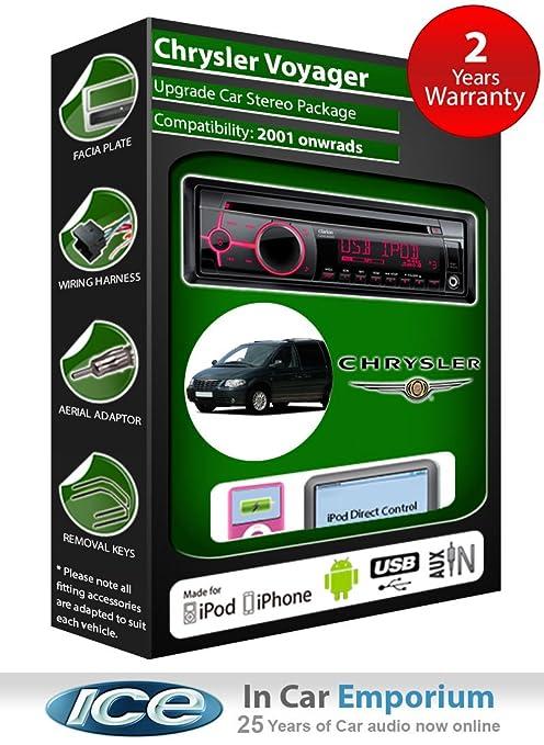 Chrysler Voyager Lecteur CD et stéréo de voiture radio Clarion jeu USB pour iPod, iPhone, Android
