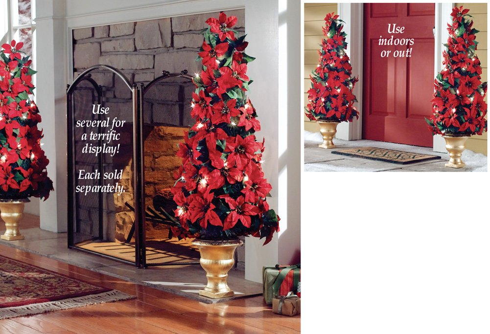 poinsettia trees and bush decorations christmas wikii. Black Bedroom Furniture Sets. Home Design Ideas