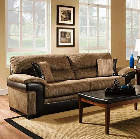 Chelsea Home Furniture Arya Sofa, Banner Brown/San Marino Mocha