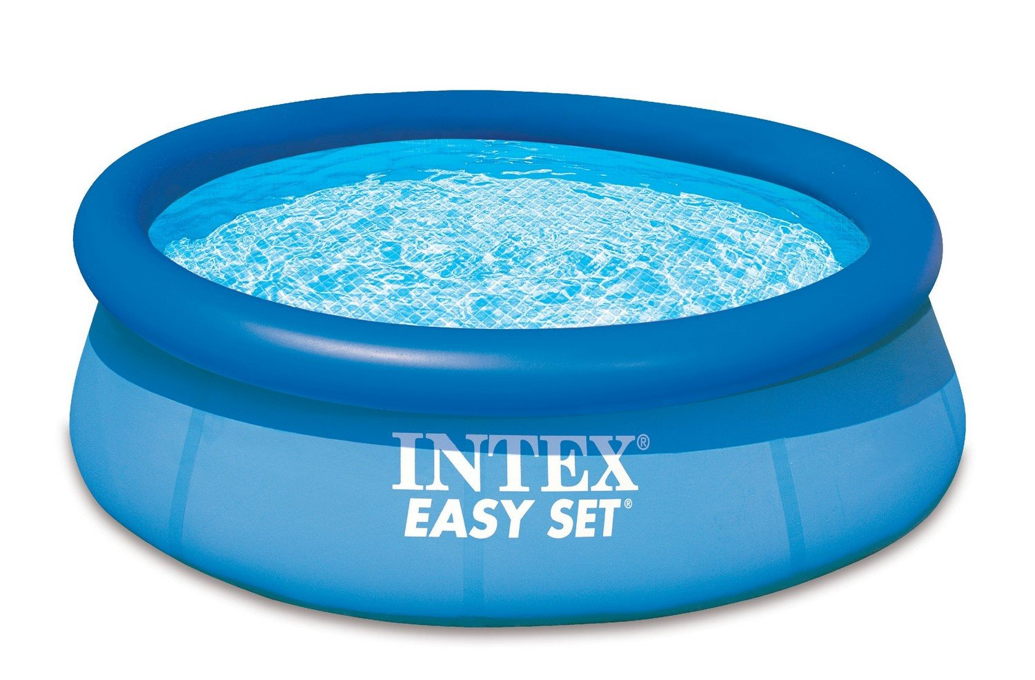 Intex easy set pool without filter blue 8 39 x 30 ebay for Piscine gonflable intex easy set