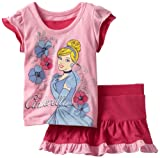 Disney Baby-girls Infant 2 Piece Knit Pullover and Divided Skirt