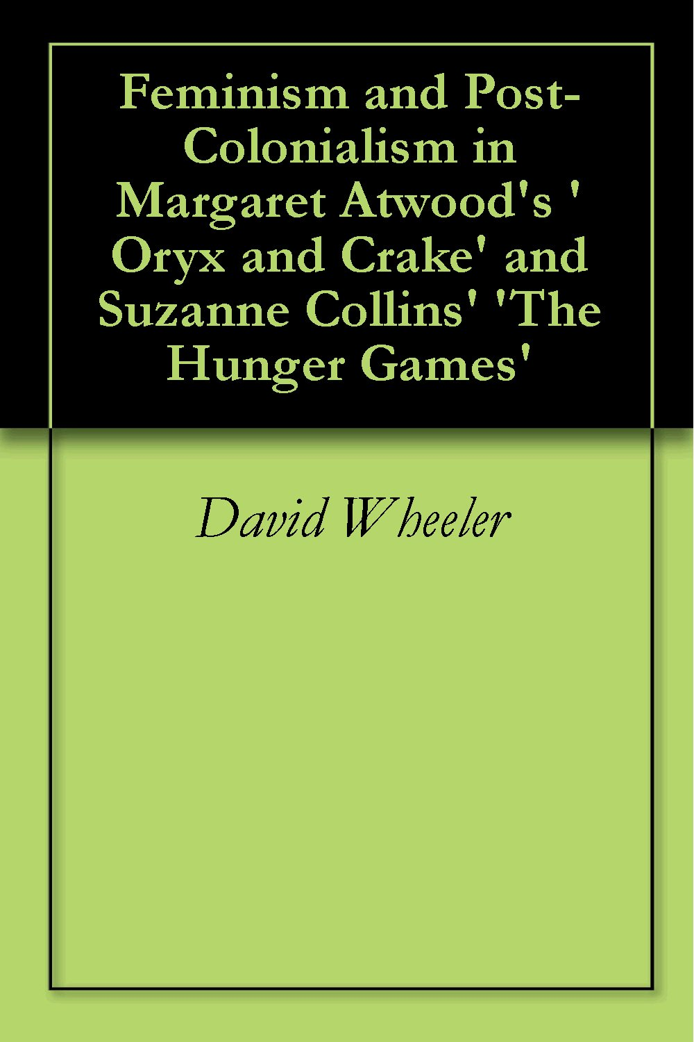 "oryx and crate essay Oryx and crake essay oryx and crake essay on page 206 of margaret atwood's novel oryx and crake, protagonist jimmy wonders, ""why is it he feels some line has been crossed, some boundary transgressed."