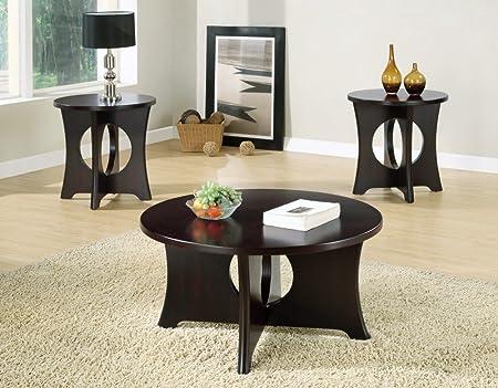 Monarch Dark Espresso Coffee Table Set