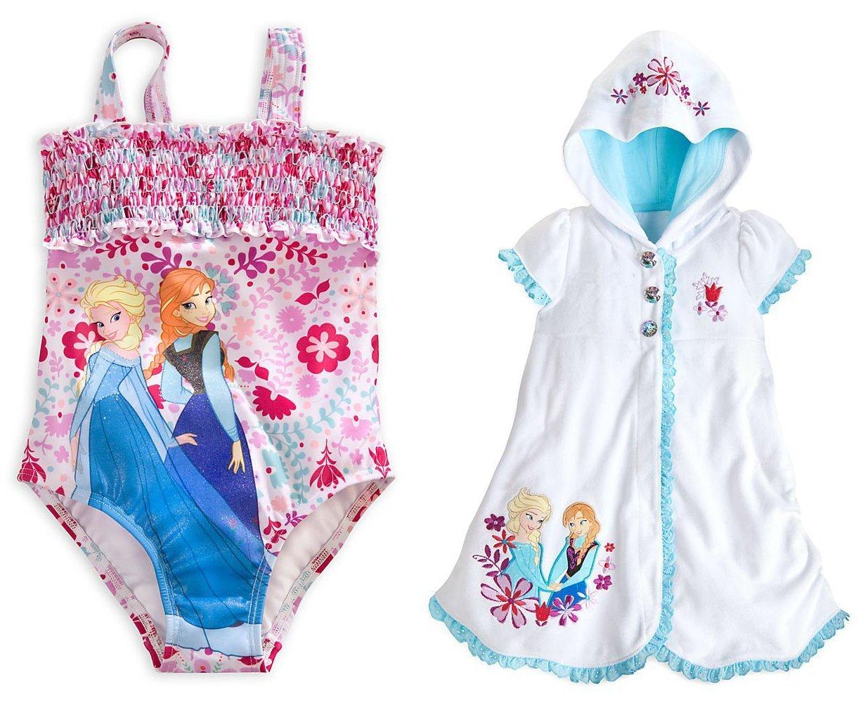 Disney Store Frozen Elsa/Anna Swim Set