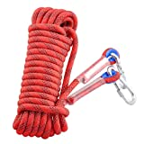Syiswei Professional Outdoor Rock Climbing Safety Rope, Diameter 12mm, 12KN Pull High Strength Accessory Cord Climbing Equipment Rope for Fire Rescue, Hiking, Mountaineering(Red, 10m(32ft)) (Color: Red, Tamaño: 10m(32ft))