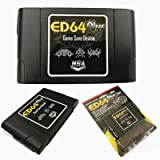SODIAL ED64 Plus Game Save Device 8GB Card Adapter for N64 Game PAL/NTSC Multicart (Color: black)