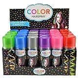 Temporary Hair Color Spray 3 oz - Case (24 Cans) - 6 Colors (Tamaño: 3 Ounces)