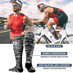 Copper Compression Socks Women & Men(6 Pairs) - Best for Running,Medical,Athletic Sports,Flight Travel, Pregnancy (Color: D-assorted12, Tamaño: S/M(US Women5.5-8.5/US Men5-9))