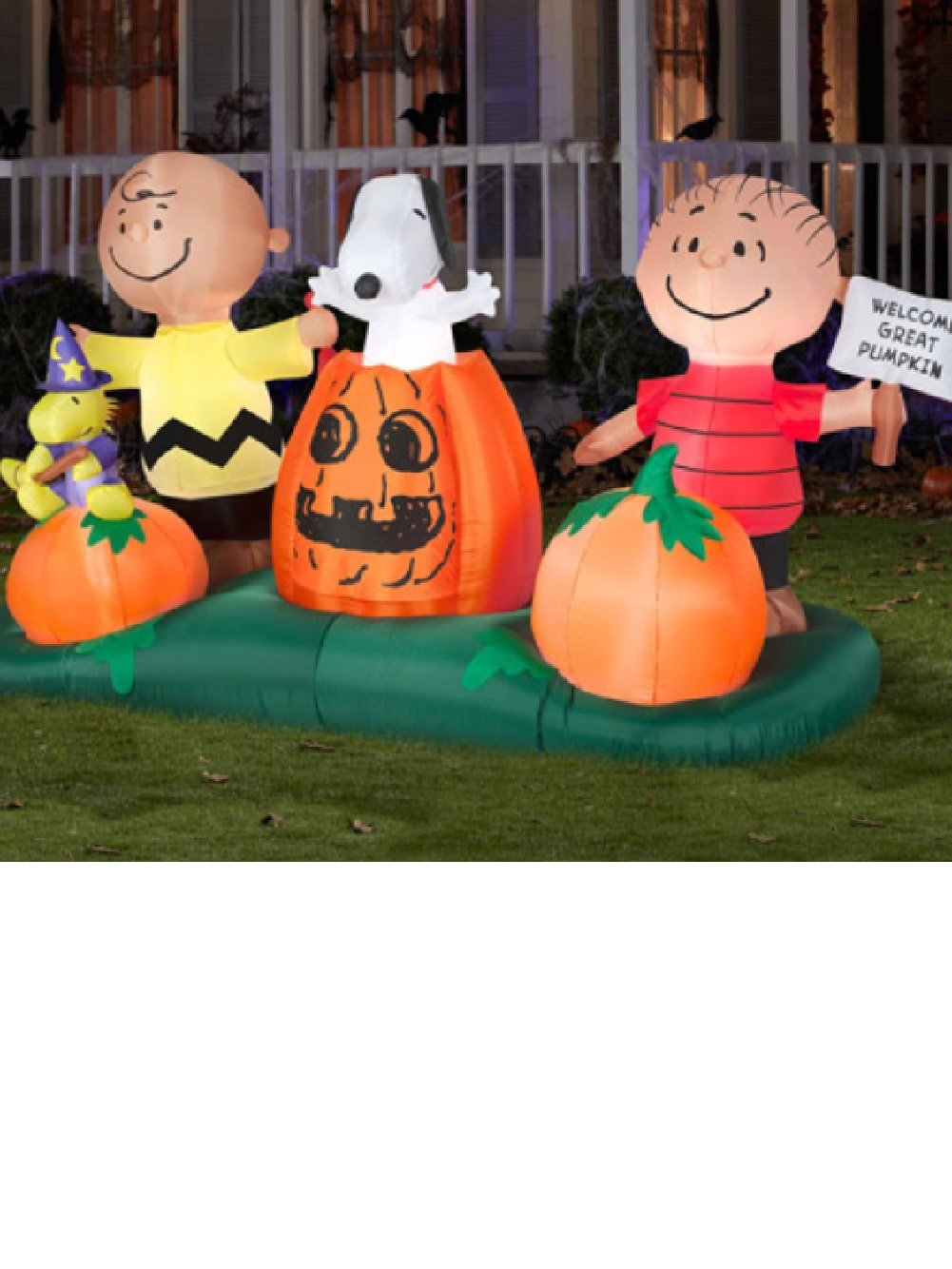 huge 5 ft airblown inflatables animated peanuts the great pumpkin patch halloween decoration 5 airblown inflatables animated peanuts pumpkin patch - Outdoor Inflatable Halloween Decorations