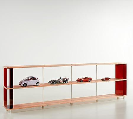 Estanteria SKAFFA WOOD en Madera Maciza Modular Design estantes repisas. Made in Italy . cm. H 90 X 200