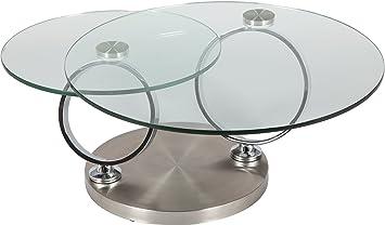 a ranchius m  Table basse ronde verre socle