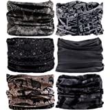 VANCROWN Headband Head Wrap Headwear Sport Sweatband 280 Patterns 12 in 1 Magic Scarf 12PCS 9PCS & 6PCS By (Color: 6PCS.Gray)