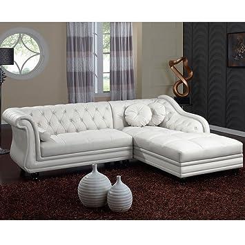 Intense Déco ⓪ - - Canapé d\'angle droit Empire Blanc style ...